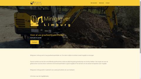 Voorbeeld van recent werk webdesign Minigraver Limburg