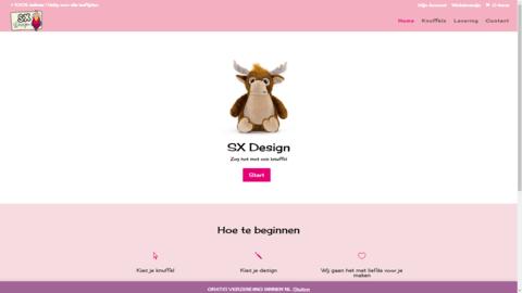 Voorbeeld van recent werk webdesign SX Design