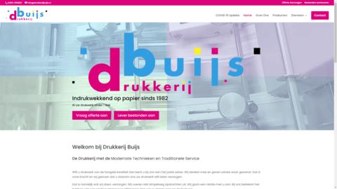 Voorbeeld van recent werk webdesign Drukkerij Buijs Nederweert
