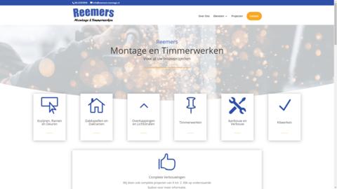 Voorbeeld van recent werk webdesign Reemers Montage & Timmerwerken