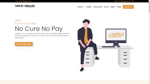 Voorbeeld van recent werk webdesign Van Rosmalen Automatiserings Diensten
